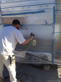 The Nugget: Our 1972 Vintage Trailer Overhaul | How to Paint a Camper Exterior | Trailer Makeovers | Vintage Revivals #vintagecamper #diy #trailermakeovers