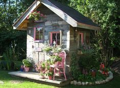 She Shed she shed catskills mountains tiny spaces urban design interior design repurposed sheds shed designs cottage design cottages ny Barbara Techel Sandra Foster cotta. Outdoor Sheds, Outdoor Gardens, Outdoor Retreat, Outdoor Landscaping, Small Gardens, Landscaping Ideas, Outdoor Spaces, Shed Design, Garden Design