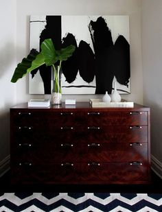 I am surprisingly really loving that dresser, especially with that painting.