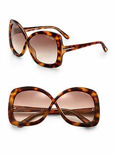 Tom Ford Eyewear Calgary Crossover Oversized Square Plastic Sunglasses