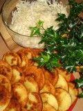 VEPŘOVÉ NA PIVĚ BRAMBOROVÉ PLACIČKY ZELNÝ SALÁT.....   Mimibazar.cz Seaweed Salad, Meat, Chicken, Ethnic Recipes, Food, Essen, Meals, Yemek, Eten