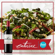 Roasted Broccoli Rabe and Arugula from Food Network Kitchens https://www.entwine-wines.com/pairings/roasted-broccoli-rabe-wheat-berry-arugula-and-sundried-tomato-salad