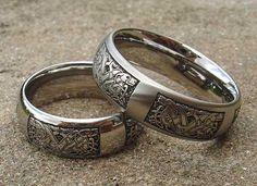 Celtic Titanium Rings Love2havecouk