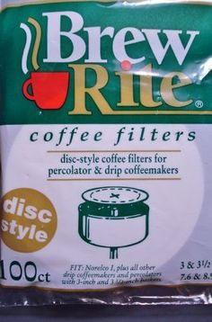 Brew Rite Disc Coffee Filter 100 Ct * You can find out more details at the link of the image.