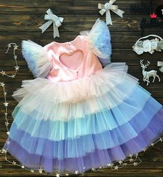 dress Unicorn dress - Girl First Birthday Outfit - Baby Dress- Birthday Dress - Blue Tutu Dress - Tutu Dress - Tulle Dress - Pink Dress Kids Frocks, Frocks For Girls, Tutus For Girls, Baby Girls, Toddler Girls, Baby First Birthday Dress, First Birthday Outfits, Baby Girl Party Dresses, Girls Dresses