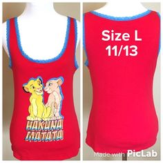 Disney Lion King Top Size L 11/13 Great Condition! Disney Tops Tank Tops