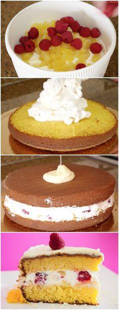 Bolo de Aniversário (VERSÃO RÁPIDA) #bolo #bolodeaniversario #bolofacil #bolorapido #sobremesa #bolodeaniversario #doce #doces #sobremesas