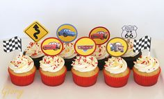 cars cupcakes for my Gabriel                                                                                                                                                                                 More