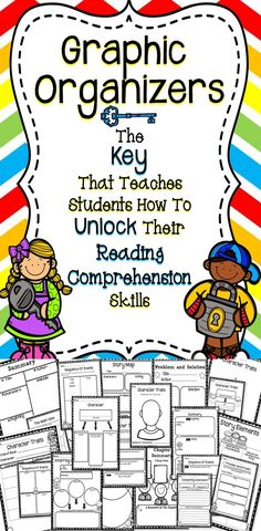 Graphic Organizers For Reading - Education Job - Ideas of Education Job - Graphic Organizers For The Classroom A great tool created using the Common Core Standards to help students improve their reading comprehension skills. Reading Comprehension Skills, Reading Strategies, Reading Activities, Reading Skills, Teaching Reading, Teaching Tools, Guided Reading, Teaching Ideas, Reading Intervention