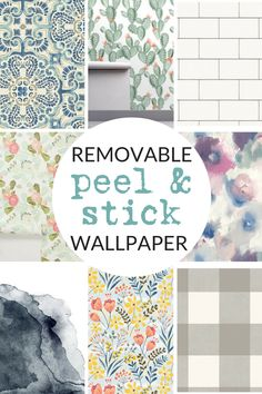 Shop my favorite sources for peel-and-stick wallpaper. #wallpaper #removablewallpaper #rentalfriendly