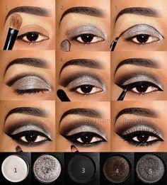 Cool Gray Eyeshadow Smokey Eyeshadow Tutorial Silver Eyeliner How To Eyeshadow Eyeshadow Steps Eyeshadow Tutorials Eyeshadow Guide Eyeshadow Techniques Makeup Tips Smokey Eyeshadow Tutorial, Grey Eyeshadow, Eyeshadow Makeup, Eyeshadow Tutorials, Eyeshadow Steps, Makeup Tutorials, Eyeshadow Guide, Makeup Ideas, Makeup Designs