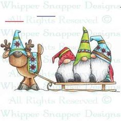 #wichtelmalen Christmas Rock, Christmas Gnome, Christmas Projects, Winter Christmas, Holiday Crafts, Christmas Ornaments, Fall Winter, Watercolor Christmas Cards, Christmas Drawing