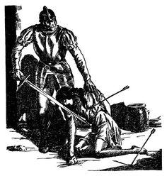 Rudá Soňa - Stín supa. Původní ilustrace s výjevem z bitvy mezi Gottfriedem von Kalmbach a osmanskými jezdci v podunajské vsi. Sony, Darth Vader, Fictional Characters, Fantasy Characters