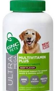 GNC Ultra Mega Multivitamin Plus Advanced Support for Senior Dog 60 Count Chewable Tablets by GNC Pets * You can find more details by visiting the affiliate link Amazon.com.