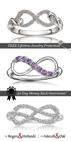 Infinity Collection: Now & Forever  Meaningful gemstone & diamond infinity symbol rings, pendants and bracelets to express just how special she is to you & tell your story of everlasting love.