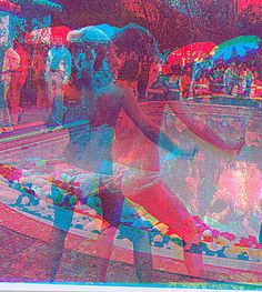 Marco Pittori - Swimming Pool III red/blue (dancing on the left side)