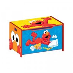 The Sesame Street Toy Box is a wooden toy box that features bright and vibrant images of Elmo on all sides. Sesame Street Room, Canvas Teepee Tent, Elmo Toys, Boy Toddler Bedroom, Wooden Toy Boxes, Toddler Themes, Elmo Party, Kids Canvas, Delta Children