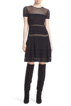 Celina Textured Knit Fit & Flare Dress by Diane von Furstenberg on @nordstrom_rack