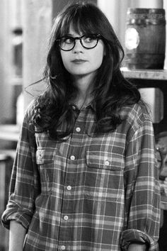 Zoe Deschanel: Coy Hipster Crush: the bangs the glasses. I will have this by the end of the year!!!