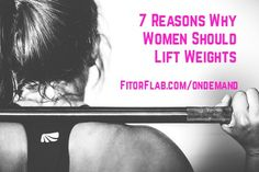 7 Reasons Why Women Should Lift Weights.If you are still not convinced why women should lift weights, I've got 7 good reasons for you!  Many women stick to various types of cardiovascular exercise as a way to lose weight. What typically ends up happening is they get thinner but still jiggle in all the wrong places! Lifting weights benefits women in many ways and is essential for optimal fitness and a lean body.