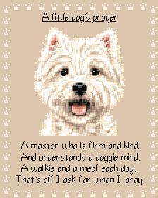 West Highland White Terrier Westie Cross Stitch Kit | eBay