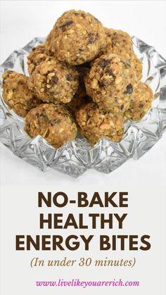 Protein Bar Recipes, Vegan Recipes, Snack Recipes, Cooking Recipes, Oatmeal Recipes, Dessert Recipes, Desserts, Easy Snacks, Healthy Snacks