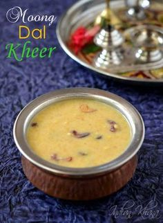 Moong Dal Kheer | Pasi Paruppu Payasam Popular South Indian kheer (payasam) suitable for any festival, Naivedyam or occasion made of simple ingredients and yet delicious.