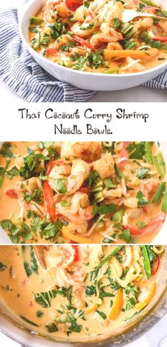 #seafoodrecipeseasyappetizers #seafoodrecipeseasyparties #seafoodrecipeseasybutter #mixedseafoodrecipeseasy #howsweeteatscom #coconut #shrimp #noodle #curry #bowls #thai #i thai coconut cu... Coconut Curry Shrimp, Thai Coconut, Easy Chicken Recipes, Seafood Recipes, Easy Chickpea Curry, Shrimp Noodles, Noodle Bowls, Roasted Sweet Potatoes, Curry Recipes