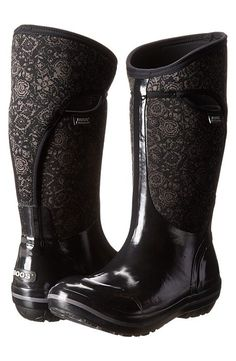 Bogs Plimsoll Quilted Floral Tall (Black) Women's Rain Boots - Bogs, Plimsoll Quilted Floral Tall, 71542-001, Footwear Boot Rain, Rain, Boot, Footwear, Shoes, Gift - Outfit Ideas And Street Style 2017