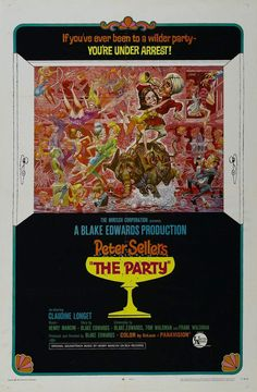 El guateque (The Party, 1968) de Blake Edwards (http://ultracuerpos.com/fichas/guateque-party-1968-blake-edwards/) #pelicula #poster #movie