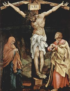 Matthias Grunewald, Large Crucifixion, 1523-25 (originally on the other side of the panel known as the Tauberbischofsheim altarpiece)