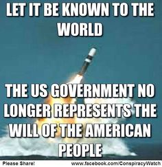 Let it be known tho the world, the US government does not represent the will of the American people.