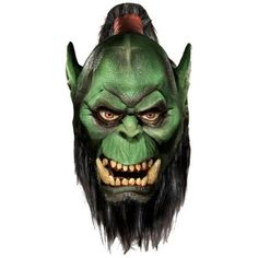 World of Warcaft Orc Adult Halloween Latex Mask, Men's, Multicolor