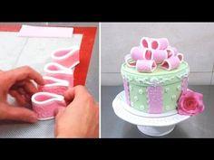 Gift Bow Cake How To Make by CakesStepbyStep - YouTube