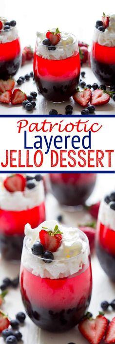 A layered patriotic
