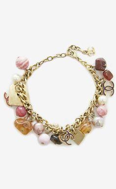 Chanel Gold, Pink And Multicolor Bracelet