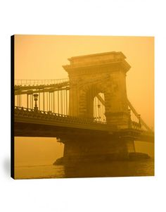 Chain bridge Budapest canvas print