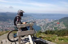 Down Ulriken in 4 minutes!  Biking in Norway.