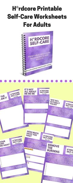 Are you sick of the usual self-care advice out there?that's why I created the Hardcore Self-Care worksheets for adults. Fitness Workouts, Fitness Motivation, Mental Health Blogs, Kids Mental Health, Health Resources, Self Care Worksheets, Printable Worksheets, Printables, Hardcore