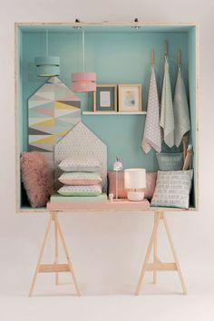 Leroy merlin nouvelle collection deco et design Home Bedroom, Girls Bedroom, Pastel Home Decor, Pastel House, Small Furniture, Fashion Room, Kids Decor, Kids Room, Room Decor