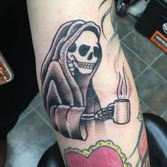 Image result for cute grim reaper tattoo