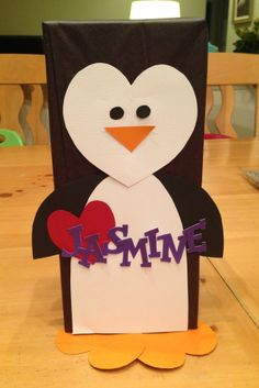 Penguin valentine box for class party!