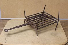 18TH C WROUGHT IRON FOLDING GRIDIRON FISH BROILER. L 19 1/2""