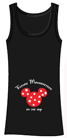 Future Mouseketeer mickey or minnie custom personalized maternity shirt perfect for disney trips or parties