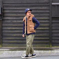 いいね!261件、コメント4件 ― Masahiro Nishikawaさん(@masahiro0129)のInstagramアカウント: 「. 今日のコーディネート! イールの #エレベスト おすすめです♪ . vest #eel knit #commonoreproducts shirts #individualizedshirts…」