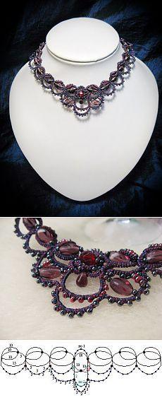 Beaded Jewelry Earrings Beaded Bracelets Lily And Laura Tatting Necklace, Tatting Jewelry, Tatting Lace, Crochet Necklace, Needle Tatting Tutorial, Crochet Metal, Jewelry Crafts, Handmade Jewelry, Tatting Patterns Free