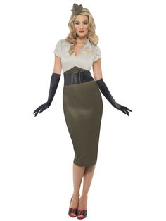 03a0c6a323c60 WW2 Army Pin Up Fancy Dress Costume