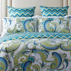 Plaza Bedding. Love the colors