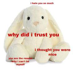 Im Losing My Mind, Lose My Mind, Losing Me, Trauma, I Trusted You, Cute Stuffed Animals, Weird Dreams, I Hate You, Cry For Help