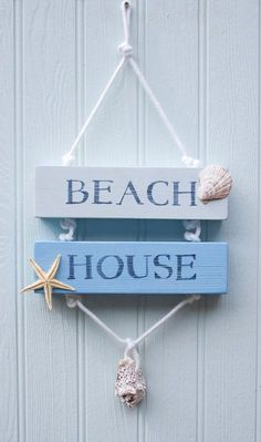 Diy Luxe Home Decor Coastal beach house sign.Diy Luxe Home Decor Coastal beach house sign Beach House Signs, Beach Signs, Home Signs, Beach House Decor, Home Decor, Seashell Crafts, Beach Crafts, Diy Crafts, Coastal Style